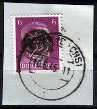 Löbau 7 Briefstück, 6 Pf. Hitler mit Aufdruck