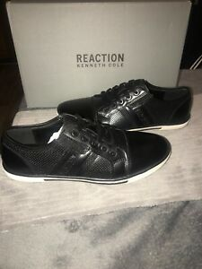 REACTIONS KENNETH COLE MENS CROWN-ED KING IZE 7M BLACK SNEAKERS