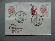 POLAND, R-cover 1997, Phil. expo St Gabriel, spec R-label, stamps Pope John-Paul