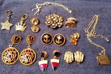 Lot of 16 - U.S. NAVY ANCHOR JEWELRY  Earrings, Charms, Golfer Necklace