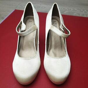 WOMENS LADIES HIGH HEEL PROM WEDDING MARY JANE COURT SHOES PUMPS SIZE UK 7