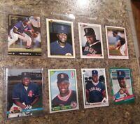 (8) Mo Vaughn 1990 1991 Bowman Score Upper Stadium Leaf Rookie Card lot Sox RC