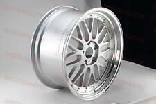 """19"""" STAGGERED LM STYLE SILVER & GOLD RIMS FITS BMW 11+ 5 SERIES F10 E90 5X120"""