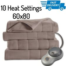 Large Electric Blanket Twin Size Soft Heating Throw Heat Blankets Warming 60x80