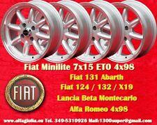4 Cerchi Fiat 124 125 131 Minilite 7x15 4x98 ET0 Wheels Felgen  Llantas Jantes