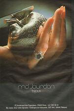 Publicité 1978  md. Jourdan bijoux bague joaillier pendentif collier collection