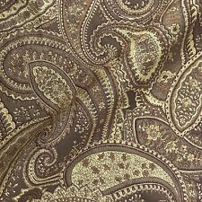 """Gerwin Victorian Gold Brown Paisley Woven Jacquard Upholstery Fabric - 54"""""""