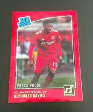 FC Bayern Munich: Alfonso Davies Rookie Red Proof 2019 Panini Donruss Soccer