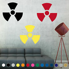 Radioactive Decal Biohazard Symbol Nuke Sign Wall Door Room House Logo Decor V1