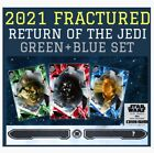 FRACTURED 2021-RETURN OF THE JEDI-GREEN+BLUE SET-TOPPS STAR WARS CARD TRADER