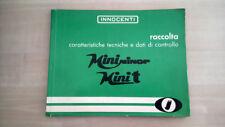 Innocenti Mini Minor - Mini T Manuale Officina 1967 ORIGINALE Italiano