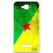 Coque housse étui tpu gel motif drapeau Guyane Alcatel One Touch Pop C7