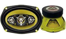 Pair Pyle PLG69.8 6'' x 9'' 500 Watt Eight-Way Speakers Car Audio