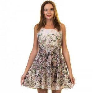 Celino Multicolor Floral Dress Sleeveless for Women Casual Party European Made