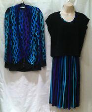 Virginie Paris Vtg. 70's Micro Pleated 3 Pc.Set  Skirt ~ Jacket ~ Top Sz XL-1X