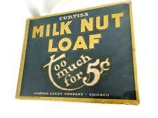 Vintage Coco-Nut Fluff Bar advertising candy bar sign Wm Panzer Mt Vernon IL