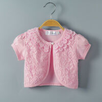 Toddler Kids Baby Little Girls Lace Princess Bolero Cardigan Blouse Clothes