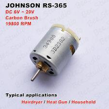 DC6V~18V 12V High Speed JOHNSON RS-365 Carbon Brush Motor For Hairdryer Heat Gun