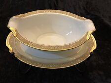 Noritake Nerrisa Pattern 673 Vintage Gravy Bowl With Attached Under Plate