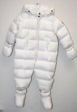 New Bonpoint White Ski Down Snowsuit JACKET Child BABY Boy Girl 18 M