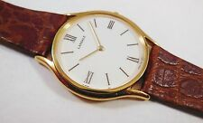 Lassale by Seiko Gold Tone Metal 7N00-8B50 Leather Sample Watch NON-WORKING