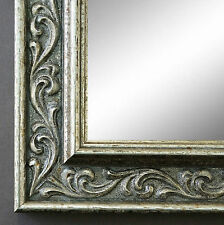 Espejo de Pared Plata Antigua Barroco baño pasillo VINTAGE Verona 4,4