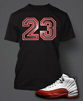 23 Tee Shirt to Match Jordan 12 Varsity White Red Shoes Graphic T Big Tall Small