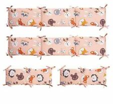 Exq Home 4-Piece Breathable Crib Liner Protector Luxury Nursery Bed Essential