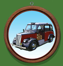 London Taxi Redwood and Canvas Christmas Tree Ornament