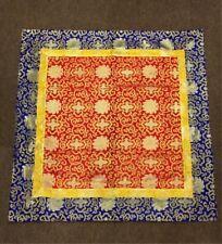 Tibetan silk brocade lotus design red altar cloth / table cloth /shrine /cover