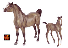 BREYER HORSE TOY MODEL 62047 - 1:12 SCALE GREY ARAB ARABIAN & FOAL - NEW IN BOX