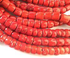 Fine Yemen big rondelle coral Red Gemstone Beads