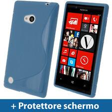Blu S Line Custodia TPU Gel case per Nokia Lumia 720 Windows Smartphone