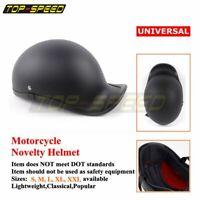Adule Polo Style ABS Motorcycle Half Helmet Baseball Cap Style M L XL MatteBlack