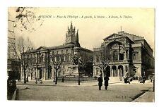 CPA 84 Vaucluse Avignon place de l'Horloge, La Mairie, Le théâtre animé