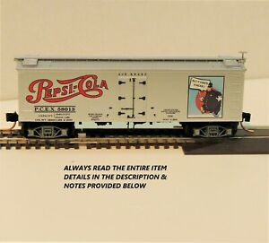 "N SCALE: 40' DOUBLE-SHEATHED REEFER - ""PEPSI-COLA"" - P.C.E.X. 58013 - MTL 58580"