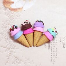 4 Dolls House Miniature Kitchen Food Dessert Clay Ice Cream Cone Accessory 1/6