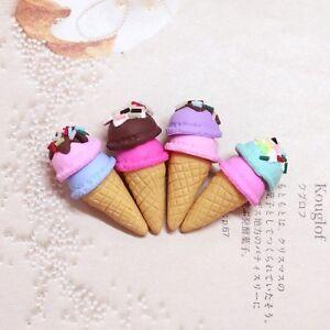 Barbie Doll 1:6 Kitchen Food Miniature Ice Cream Cones and Box b
