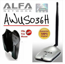 Alfa Network AWUS036H Wireless Adapter + Mount, Clip & Suck 100% Original