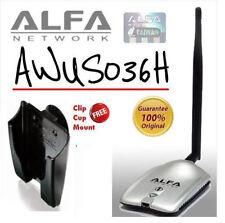 Alfa Network AWUS036H Wireless Adapter + Mount, Clip & Suck 100% Original