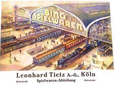 Bing Spielwaren Katalog 20er 30er J Leonhard Tietz A.G Köln NACHDRUCK HB4µ *