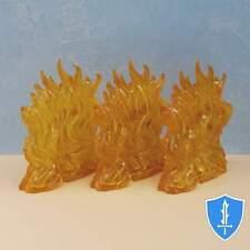 Wall of Fire x3 - Spell Effects D&D Miniature