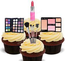 Make-Up eßbar Muffin Torten-Bild-Aufleger Party Deko Schminke Pinsel Set neu