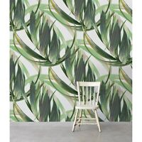 Long Exotic Leafs removable wallpaper self adhesive wall mural peel and stick