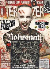 TERRORIZER UK #225 August 2012 BEHEMOTH Testament Nile WATAIN POSTER + CD SS