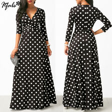 Womens Long Floral Long Sleeve Cocktail Formal Party Prom Ball Gown Maxi Dress