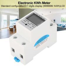 220V 5 (80) A Contatore elettrico digitale monofase 2 fili 2P su guida DIN KWh