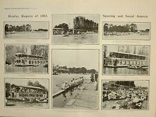 1903 Imprimé Article Grand Eau Fête Henley Regatta House-Boat Summerholme