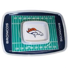 NFL Licensed Denver Broncos Chip and Dip Tray - Sports Merch Football Tailgate