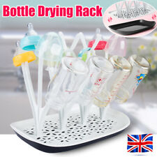 Baby Bottle Drying Rack Infant Countertop Dryer Clean Feeding Holder Drainer UK